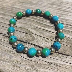 Gemstone beaded stretchy bracelets